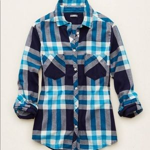 Aerie Blue Flannel